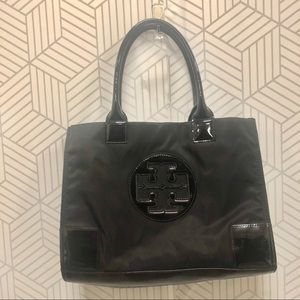 Tory Burch Womens Ella Patent Mini Tote